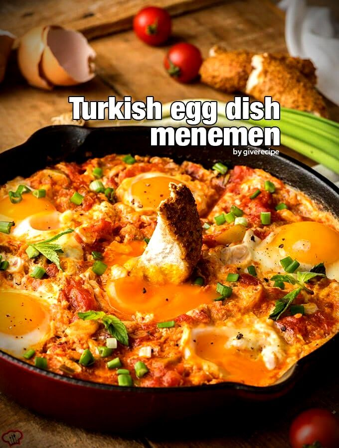Turkish Sytle Egg Dish Menemen Is An Amazingly Tasty Breakfast Lunch And Dinner Recipe Simple Quick And Oh So Yummy Menemen Recipe Turkish Recipes Recipes
