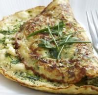 Recipe for Herb, courgette and feta omelette