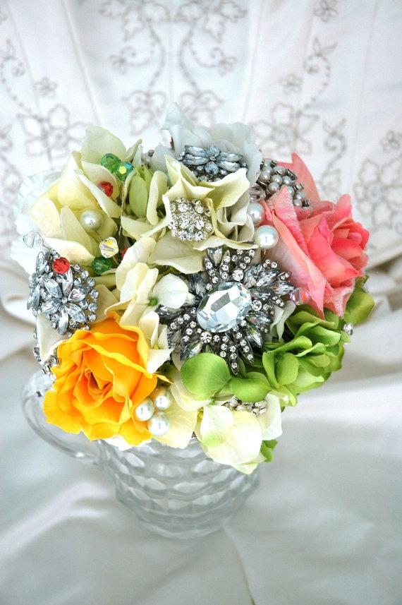 Bridal Brooch Bouquet Wedding Bridal Bouquet Spring by BoHoBridal, $200.00