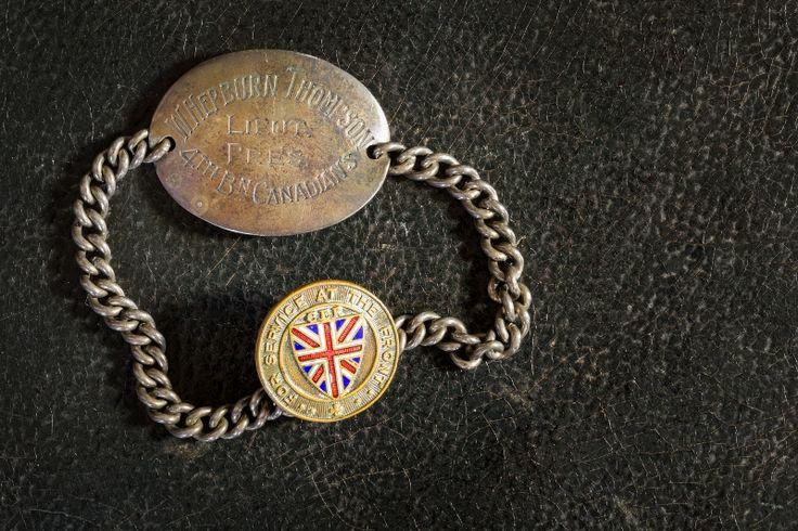 Walter Thompson's custom made identity bracelet