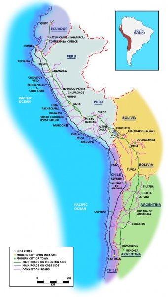 Inca Road System (Illustration) - Ancient History Encyclopedia