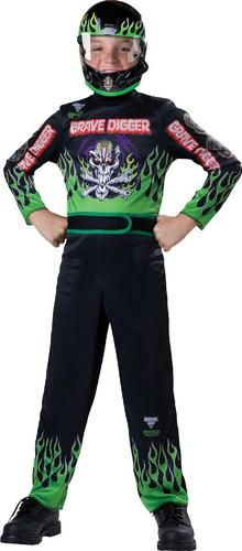 Includes themed graphic jumpsuit and mask. Does not include shoes. This is an officially licensed Monster Jam costume.