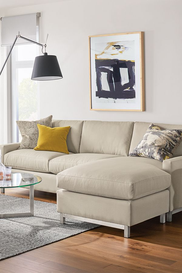 Stevens Sofa With Chaise Modern Chaise Sofas Modern Living