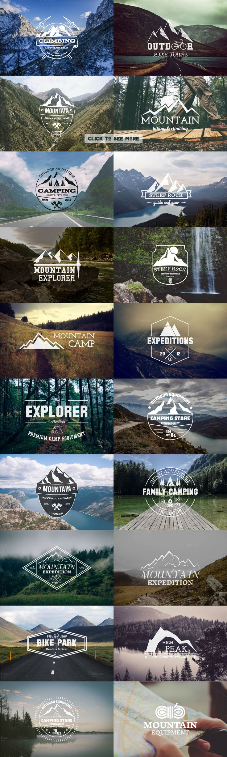 UPDATE 25 Adventure Badges & Logos ⛺