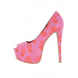 8c19c21de2a2 Aloha Bitches Peep Toe Super Platform ❤ Pink