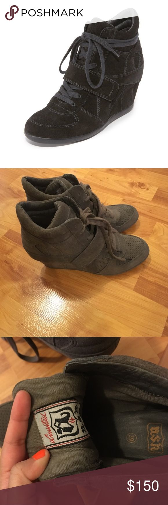 Gray Ash Bowie Wedge Sneakers Ash Bowie Wedge Sneakers / new never worn Ash Shoes