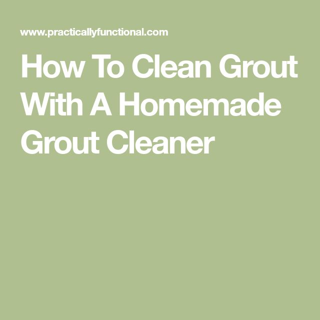 how to clean white grout in shower