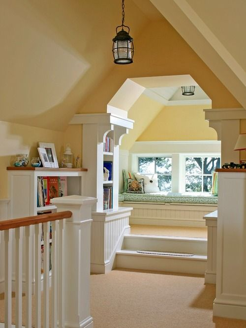 Steps and a mini area for reading or even a nap!