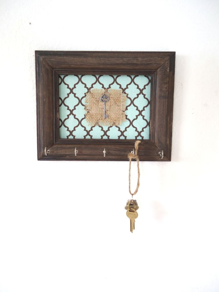 Key Holder Wall Hook Rack Organizer Vintage Frame French