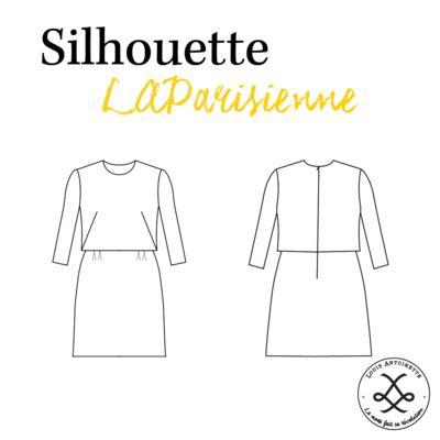 Patron couture et tutoriel robe LAParisienne a coudre taille 34 au 46 Louis Antoinette - dessin technique