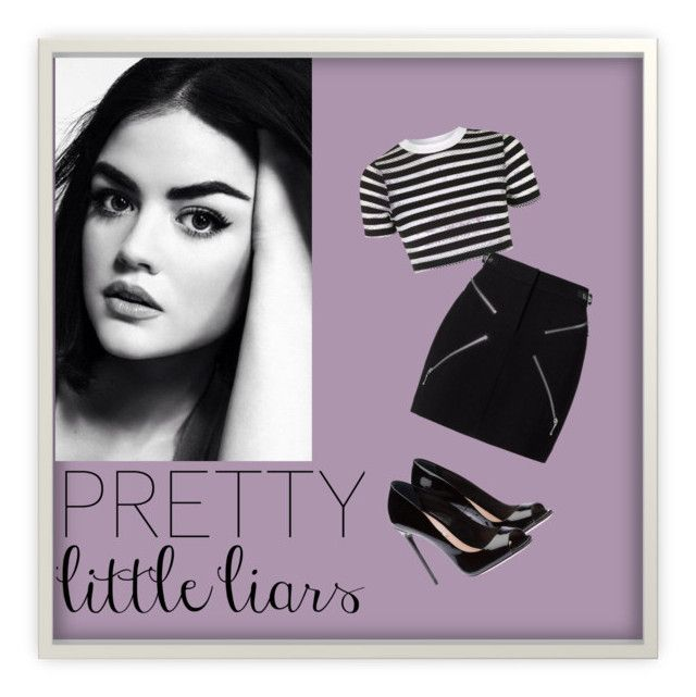 """""""Pretty litle liars"""" by terezka-neprasova ❤ liked on Polyvore featuring Topshop and Alexander Wang"""