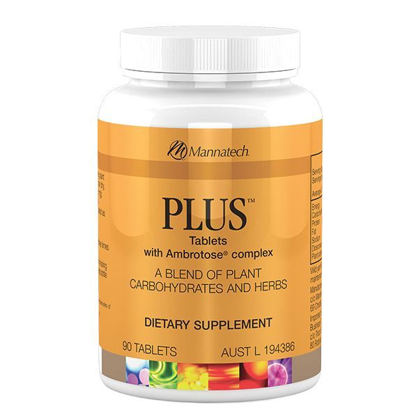 PLUS with Ambrotose® complex | Mannatech The PLUS tablets include a unique blend of standardised nutrients including phytohormones, plant based steroidal saponins, and glyconutrients to help maintain good health. The PLUS tablets are designed to promote general well-being which is achieved through Mannatech's formulation of Dioscorea and Ambrotose® complex. www.choosevitality.com