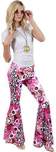 Kangaroo's Halloween Accessories – Groovy Hippie Pants, S-M – Halloween Costumes For Women