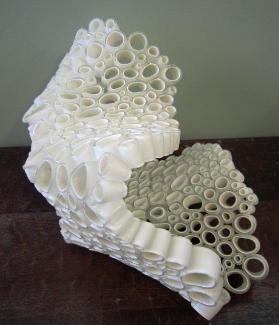 glass sculpture - reminds me of the small parts accumulation.