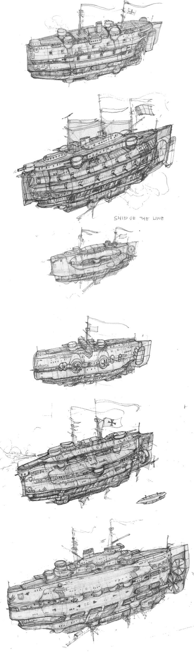 steampunk battleship - Google Search