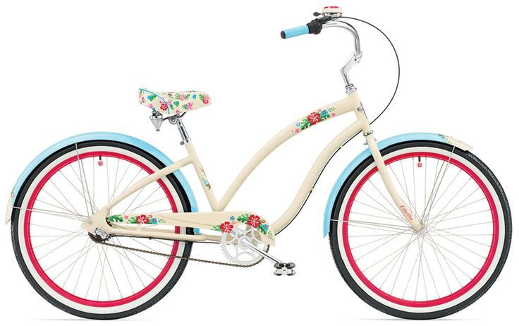 #bikes  #bike #cute #brown #blue #white #red #flowers