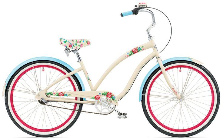 #bikes  #bike #cute #brown #blue #white #red #flowers