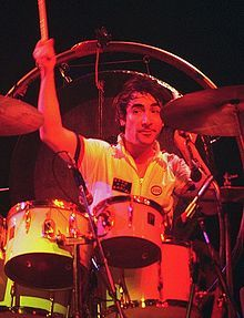 Keith Moon (1946-1978), the drummer for the rock band The Who. Widely considered one of the greatest drummers of all time. The only training he ever received was at 16 years old when he had 3 or 4 drum lessons with Carlo Little (an early member of the Rolling Stones). Interestingly, Carlo Little was also a self-taught drummer.
