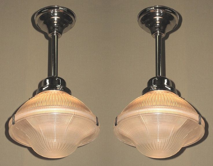 Items Similar To 2 Matching Holophane Ceiling Fixtures Priced Each On Etsy.  Find This Pin And More On Vintage Kitchen Light ...