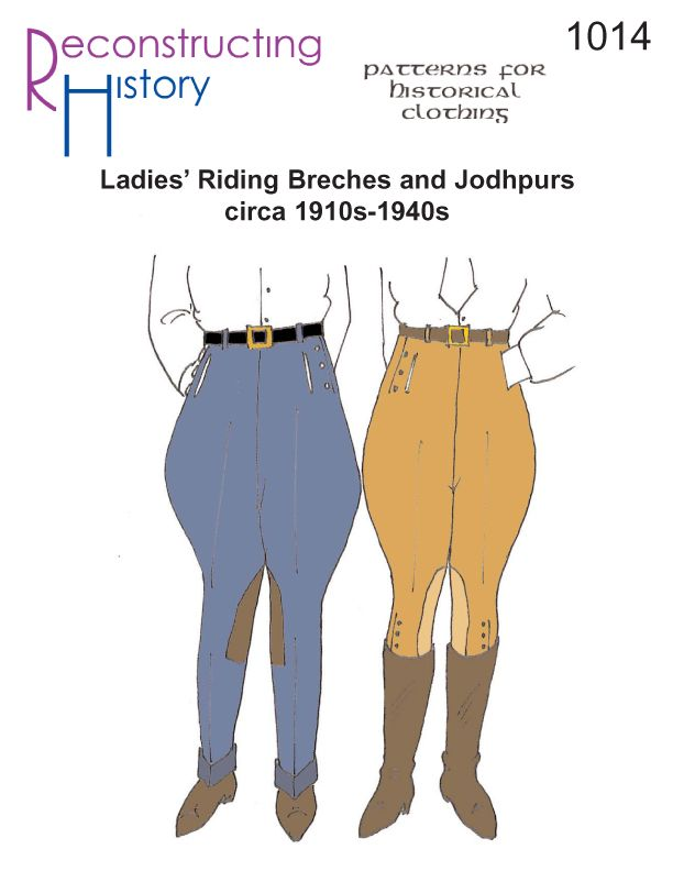 Wear more flattering Riding Breeches! You need our pattern for ladies' riding breeches or jodhpurs from the 1910s through the 1940s based on an original pattern and extant garments. Fits waists 24″ through 46″, hips 36″ through 58″, and calves 13″ to 18.5″. All sizes are included in one pattern. Detailed instructions, period tailoring directions, …