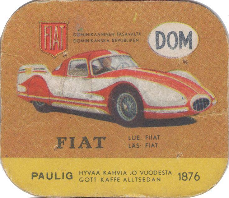 En nostalgitripp fram till jul med hjälp av Pauligs bilkort från mitten av 1900-talet. Fiat 8V #cars #vintage