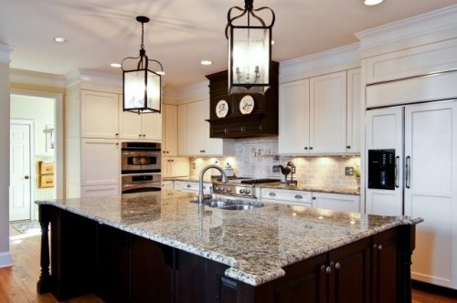 Best Cream Cabinets Handpainted Glazed Subway Tile Backsplash 400 x 300