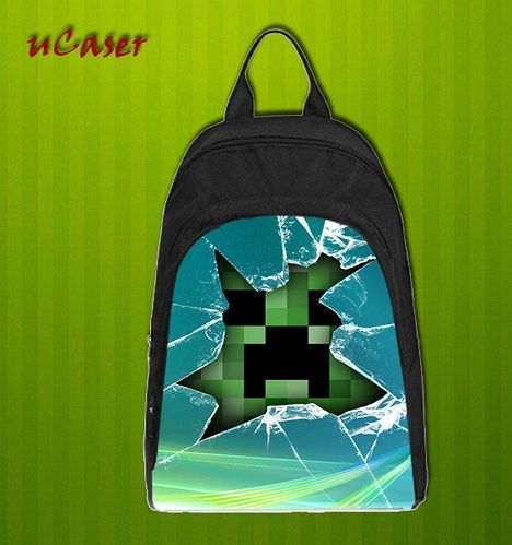 MC Glass Broken Custom Casual school bag, Backpack
