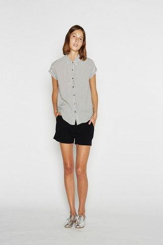 Vanishing Elephant Square Shirt - Linen Pinstripe – Eclectic Ladyland