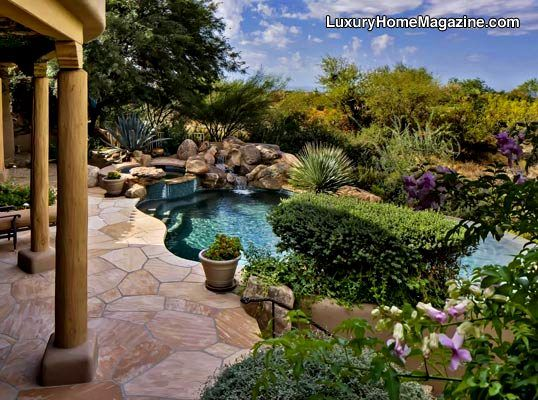Lush Backyard And Landscaping Small Pool Design