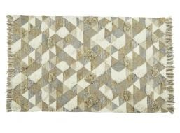 Saskia Diamond Flokati Rug in Multi Diamond