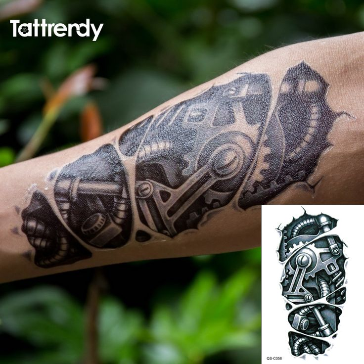 Robot Mechanical Arm Tattoo //Price: $6.49 & FREE Shipping //     #tattoosleeves
