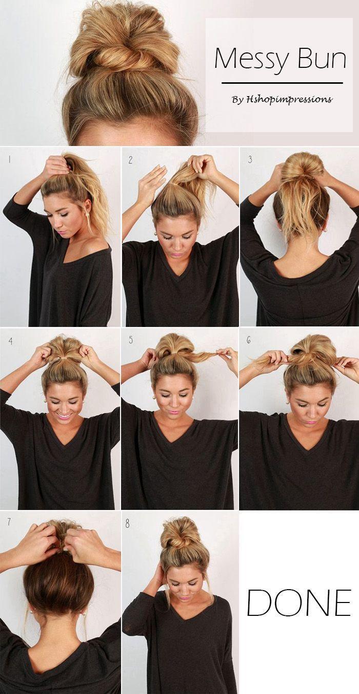 Detailed Tutorials for Super Chic Messy Bun #EasyHairstyleTutorials #Easyhairsty