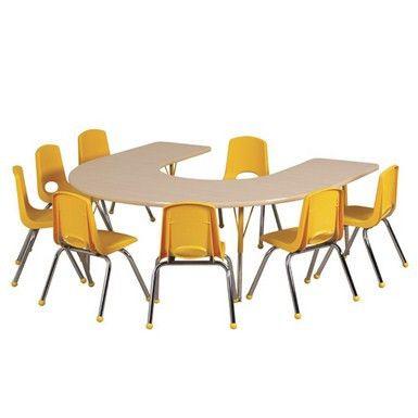 "Horseshoe 60"" x 66"" Adjustable Activity Table"