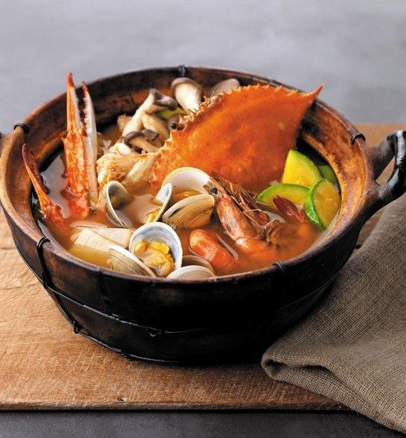 (Seafood) Soybean-paste Stew. One of the most tasty Korean food. Teach English at South Korea and have a taste of this Korean specialty. #GetPaid2Travel Visit our site for more info www.ataonline.edu.au