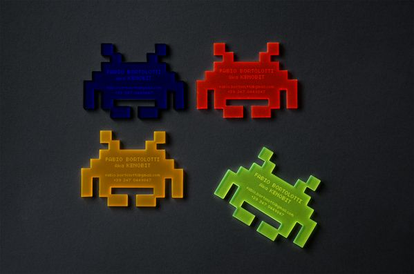 Gamer2: Creative Business Cards, Business Cards Want, Spaces Invaders, Business Cardswant, Space Invaders, Invaders Business, Bussi Cards, Cards Inspiration, Business Cards Design