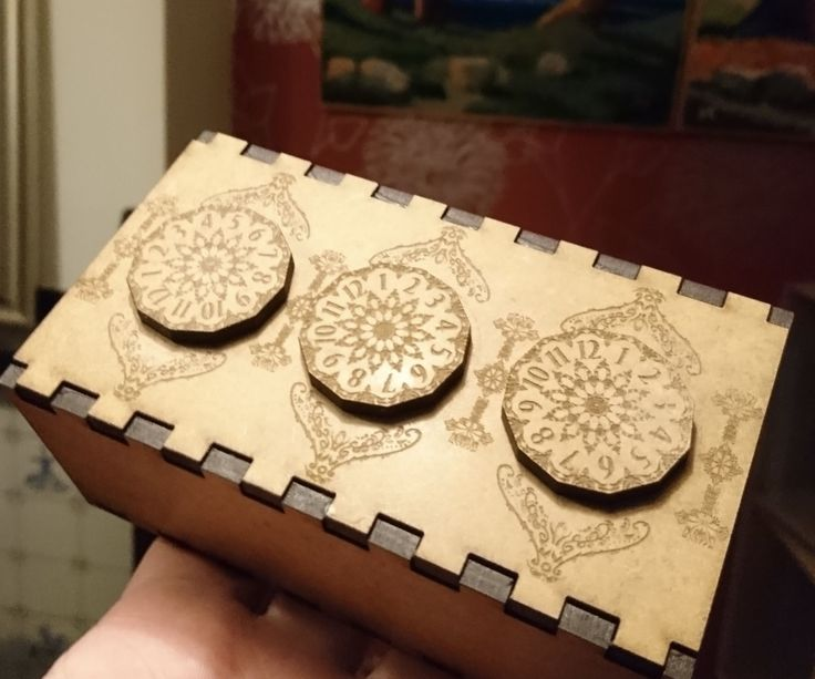 Being a little addicted to my Trotec lasercutter, I had to design a puzzle box.This box has three dials, connected with each others with gears. The middle gear is...