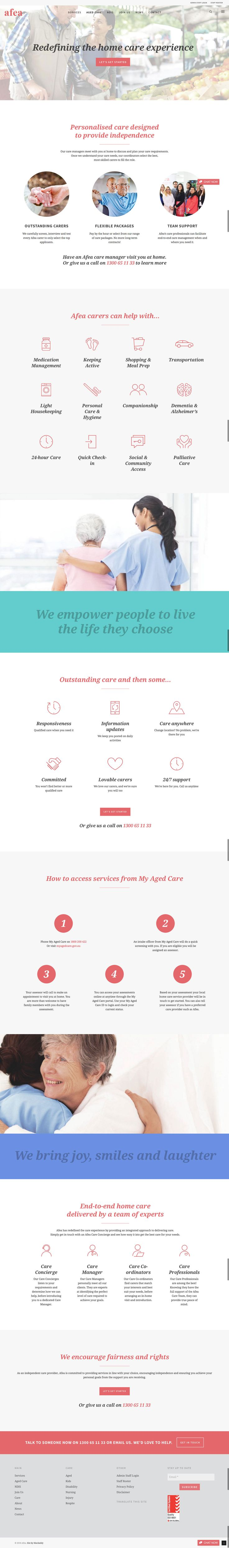New responsive responsive website by KORE (http://kore.digital/). Aged care page. #responsivedesign #webdesign #wordpress