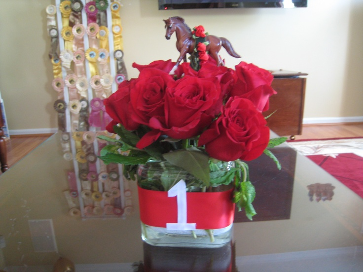 Centerpiece Ideas For Kentucky Derby Party : Another centerpiece for kentucky derby party