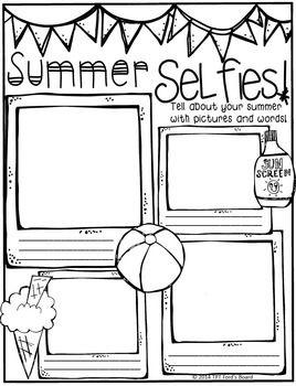 Back to School Poster: SUMMER SELFIES! ~Freebie!~