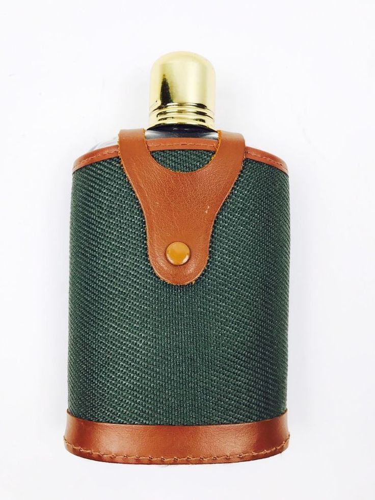 VTG Abercrombie & Fitch Glass Flask in Canvas/ Leather Case  | eBay
