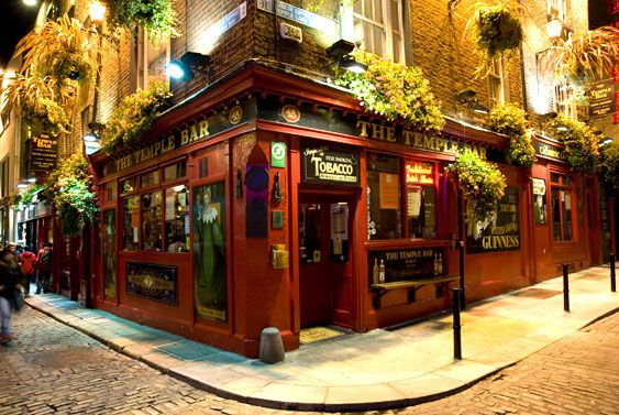 THE Temple Bar in Temple Bar, Dublin, Ireland...really fun place :-)