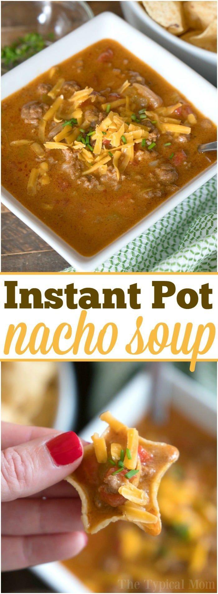 Instant pot nacho soup | Posted By: DebbieNet.com