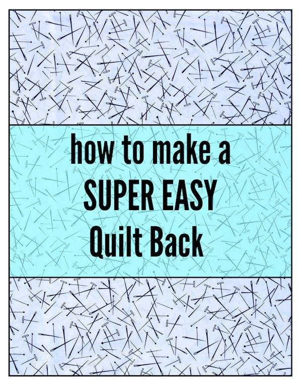 The only part of making a quilt that I do not enjoy is sewing the quilt back. I just hate calculating the dimensions, cutting the pieces and then sewing them together. There are many, many ways t…