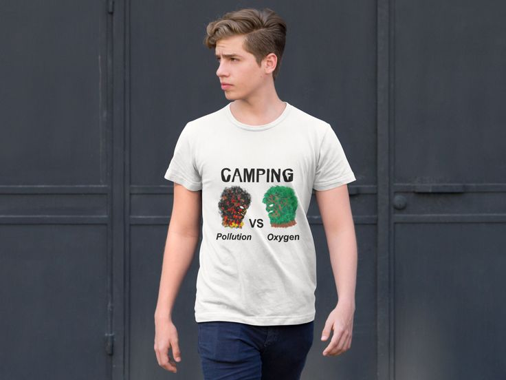 "My T - shirt on Teespring for Camping Day ""Pollution VS Oxygen"""