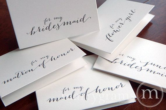 Bridesmaid Thank You Note  For My Bridesmaid Maid of by marrygrams, $17.50