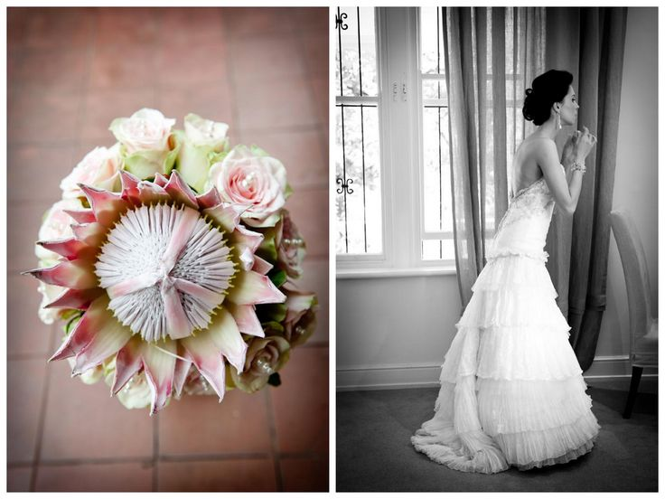 real wedding protea bouquets - Google Search