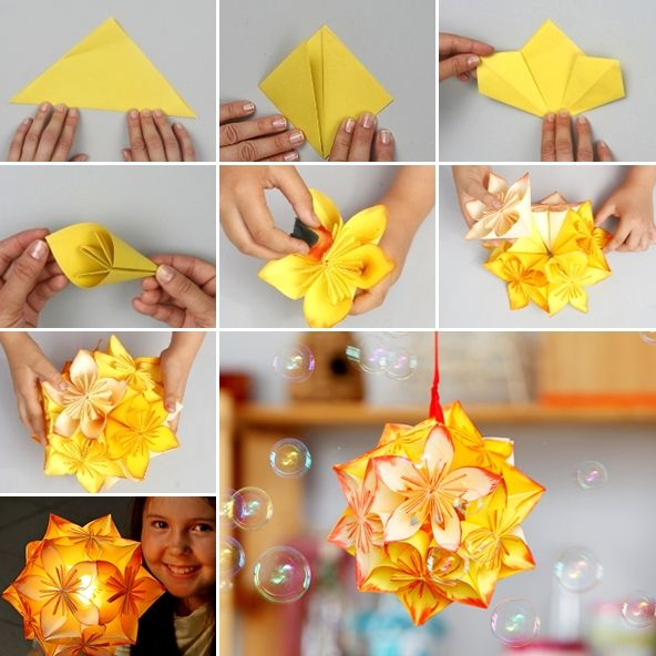 This Origami Flower Ball is a Great Project to Try