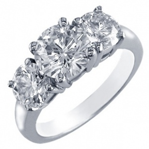 #Diamond #Engagement Ring - Sofia Collection 1.5 Carat 3 stone
