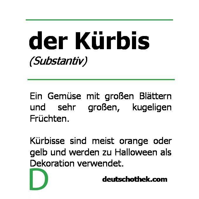 Wort der Woche: der Kürbis #Halloween #Kürbis #Deutschlernen #Sprachschule #Deutschothek