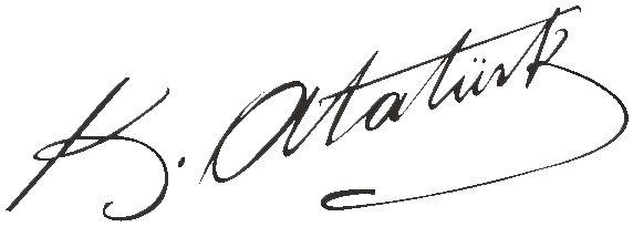 Atatürk`ün imzası kopyala resimleri